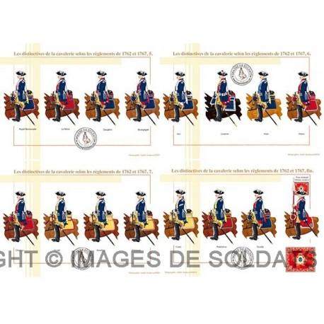 Les distinctives de la cavalerie selon les règlements de 1762 et 1767 (2/2)