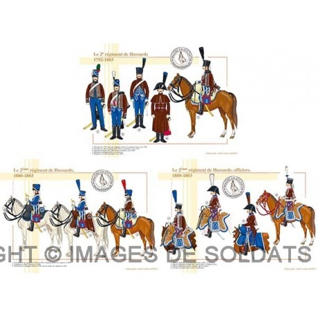 Le 2e régiment de Hussards, 1792-1803
