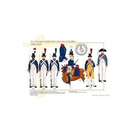 Les Troupes stationnées dans les Caraïbes, 1800-1810