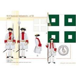 St Chamont Infanterie n°21, 1757