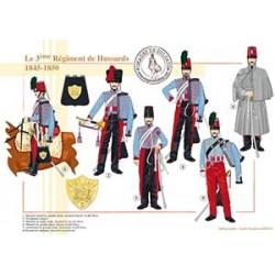 Le 3e régiment de Hussards, 1845-1850