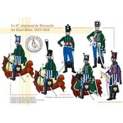Le 6e régiment de Hussards du Haut-Rhin, 1815-1818