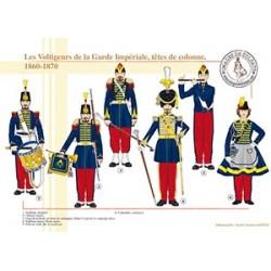 Les voltigeurs de la Garde Impériale, têtes de colonne, 1860-1870