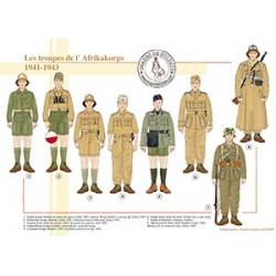 Les troupes de l'Afrikakorps, 1941-1943