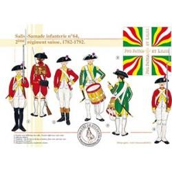 Salis - Samande infanterie n°64, 7ème régiment suisse, 1782-1792