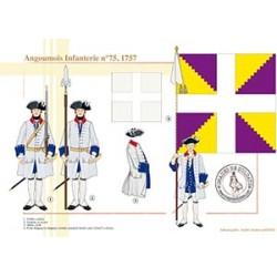 Angoumois Infanterie n°75, 1757