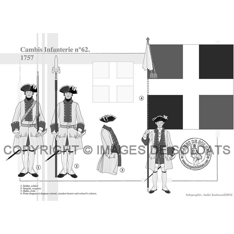 cambis infanterie n 62 1757. Black Bedroom Furniture Sets. Home Design Ideas