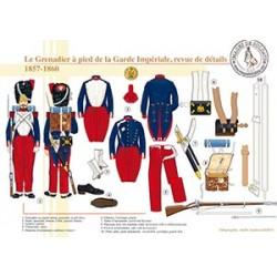 Le Grenadier à pied de la Garde Impériale, revue de détails, 1857-1860