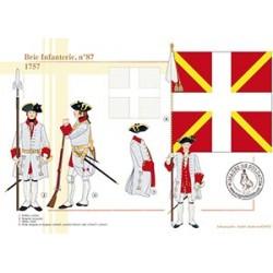 Brie Infanterie n°87, 1757