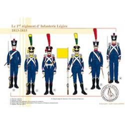 Le 1er régiment d'Infanterie Légère, 1813-1815