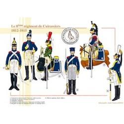 Le 8e régiment de Cuirassiers, 1812-1815