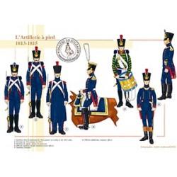 L'Artillerie à pied, 1813-1815