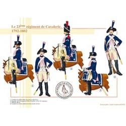 Le 23ème régiment de Cavalerie, 1792-1802