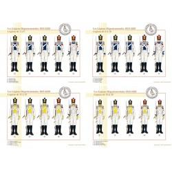 Les Légions Départementales, 1815-1820, Légions de 1 à 20