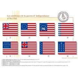Les emblèmes de la guerre d'Indépendance, 1776-1783