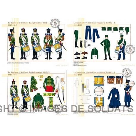 Le Tambour d'Artillerie du règlement de 1812, 1813-1815