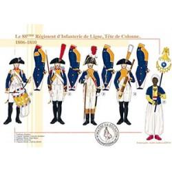 Le 88ème Régiment d'Infanterie de Ligne, Tête de colonne, 1806-1810