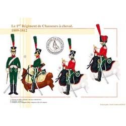 Le 1er Régiment de Chasseurs à cheval, 1809-1812