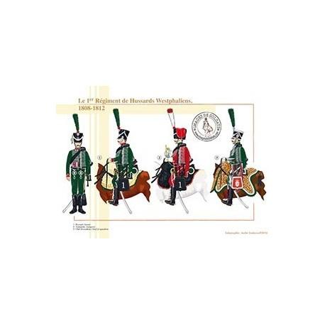 Le 1er Régiment de Hussards Westphaliens, 1808-1812
