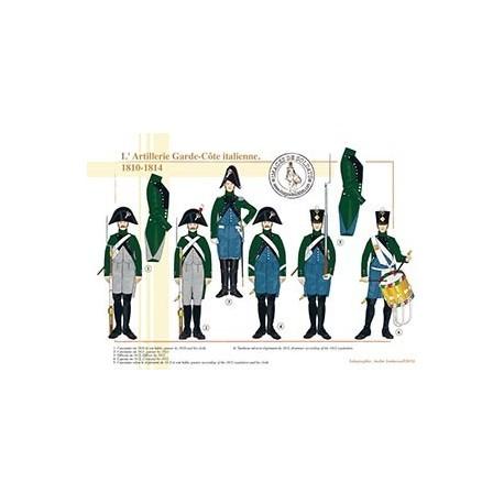 L'Artillerie Garde-Côte italienne, 1810-1814
