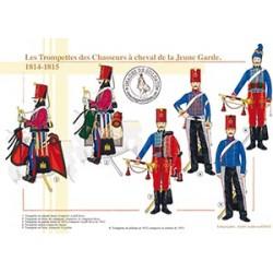 Les Trompettes des Chasseurs à cheval de la Jeune Garde, 1814-1815