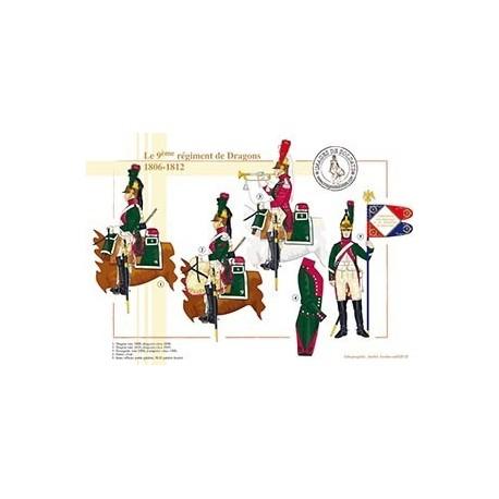 Le 9ème régiment de Dragons, 1806-1812