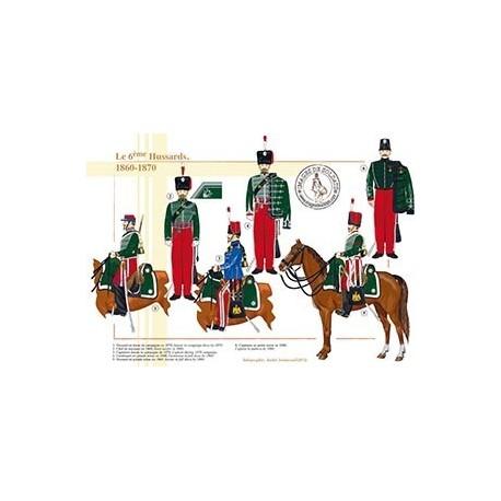 Le 6ème régiment de Hussards, 1860-1870