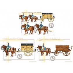 Ambulances et fourgon de la Garde Impériale, 1804-1815