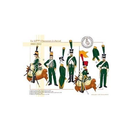 Le 13ème Chasseurs à cheval, 1803-1812
