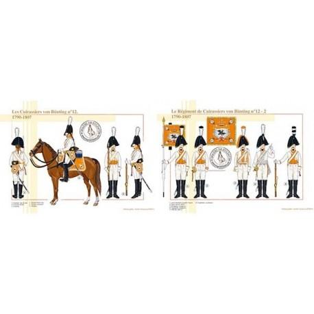 Le régiment de Cuirassiers von Bünting n°12, 1790-1807