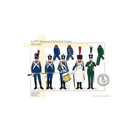 Le 5ème Régiment d'Infanterie Légère, 1813-1815