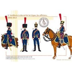 L'Artillerie à cheval de la Ligne, les officiers, 1804-1813