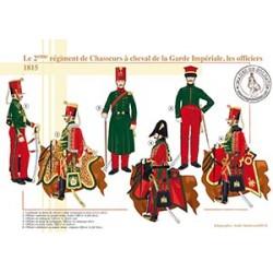 Le 2ème régiment de Chasseurs à cheval de la Garde Impériale, les officiers, 1815