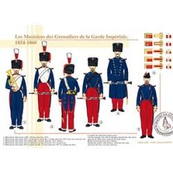 Les Musiciens des Grenadiers de la Garde Impériale, 1854-1860