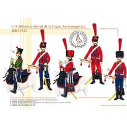 L'Artillerie à cheval de la Ligne, les trompettes, 1804-1813