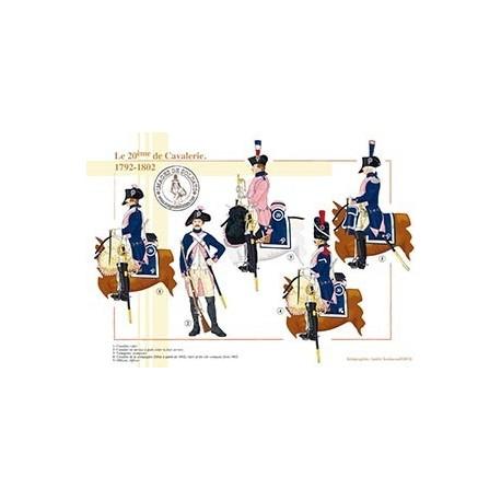 Le 20ème de Cavalerie, 1792-1802