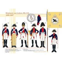 Régiment von Lettow, IR n°41, 1800-1807