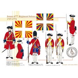 Jenner 6ème Régiment Suisses, 1757-1774