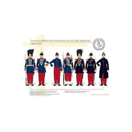 Les Sous-officiers des Grenadiers de la Garde Impériale, 1860-1870