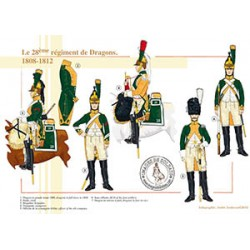 Le 28ème régiment de Dragons, 1808-1812