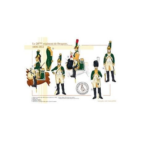 Le 28ème régiment de Dragons, 1808-1812