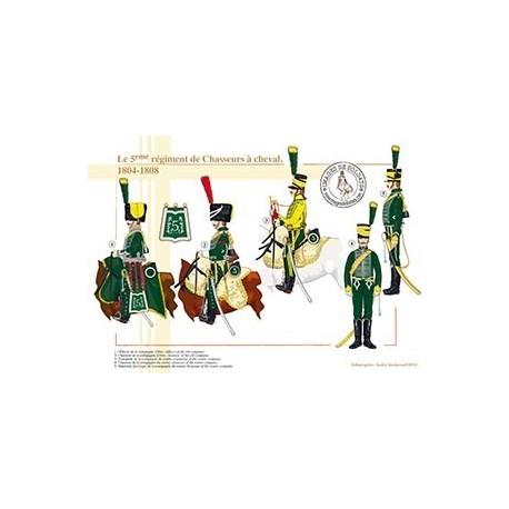 Le 5ème régiment de Chasseurs à cheval, 1804-1808