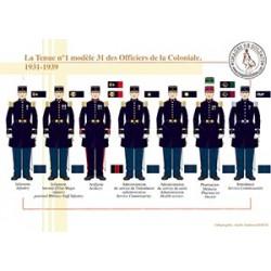 La tenue n°1 modèle 31 des Officiers de la Coloniale, 1931-1939