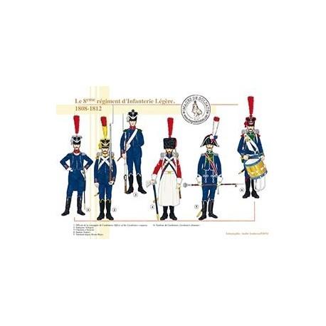 Le 8ème régiment d'Infanterie Légère, 1808-1812