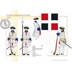 La Sarre Infanterie n°34, 1757