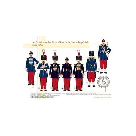 Les Musiciens des Grenadiers de la Garde Impériale, 1860-1870