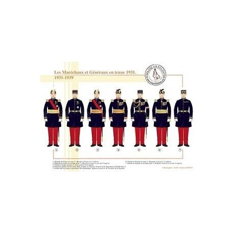 Les Maréchaux et Généraux en tenue 1931, 1931-1939