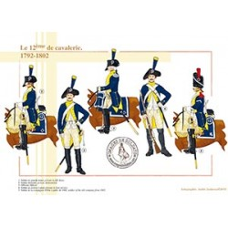 Le 12ème de cavalerie, 1792-1802