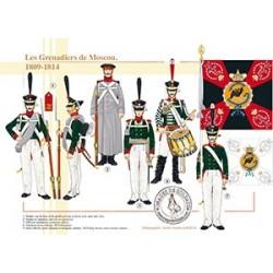 Les Grenadiers de Moscou, 1809-1814
