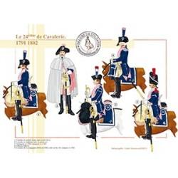 Le 24ème de Cavalerie, 1791-1802